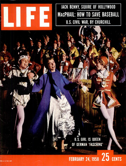 Carma Beggs is Fasching Princess 24 Feb 1958 Copyright Life Magazine | Life Magazine Color Photo Covers 1937-1970