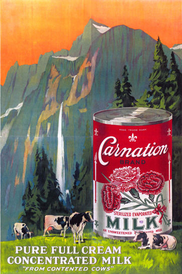 Carnation Concentrated Milk United Kingdom | Vintage Ad and Cover Art 1891-1970