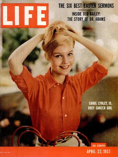 Carol Lynley 15 busy Career Girl 22 Apr 1957 Copyright Life Magazine   Life Magazine Color Photo Covers 1937-1970