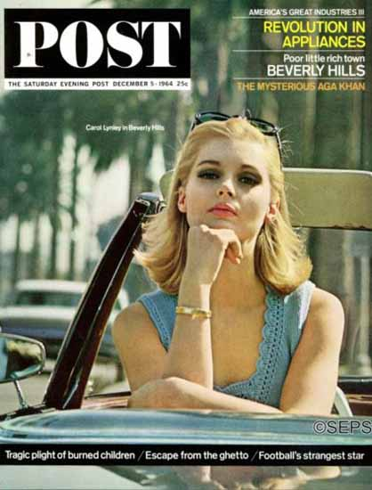 Carol Lynley Saturday Evening Post 1964_12_05 | Sex Appeal Vintage Ads and Covers 1891-1970