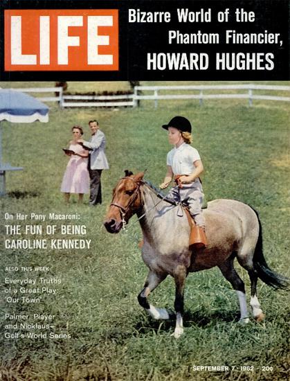 Caroline Kennedy on her Pony 7 Sep 1962 Copyright Life Magazine | Life Magazine Color Photo Covers 1937-1970