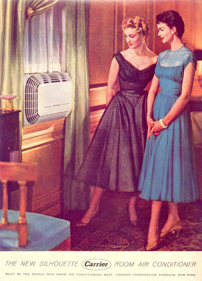 Carrier Room Air Conditioner 1954 | Sex Appeal Vintage Ads and Covers 1891-1970