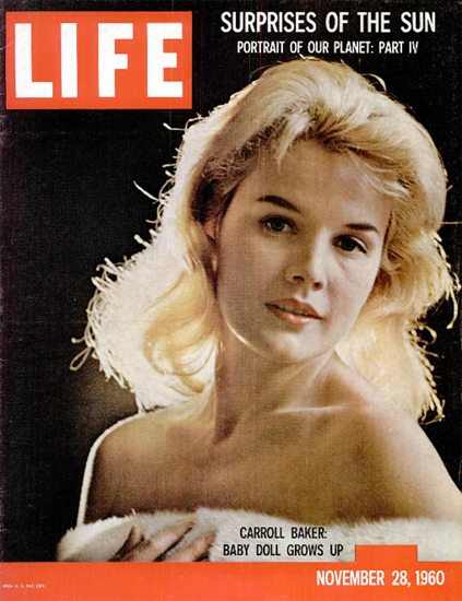 Carroll Baker Baby Doll grows up 28 Nov 1960 Copyright Life Magazine | Life Magazine Color Photo Covers 1937-1970
