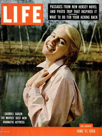 Carroll Baker Best Dramatic Actress 11 Jun 1956 Copyright Life Magazine | Life Magazine Color Photo Covers 1937-1970