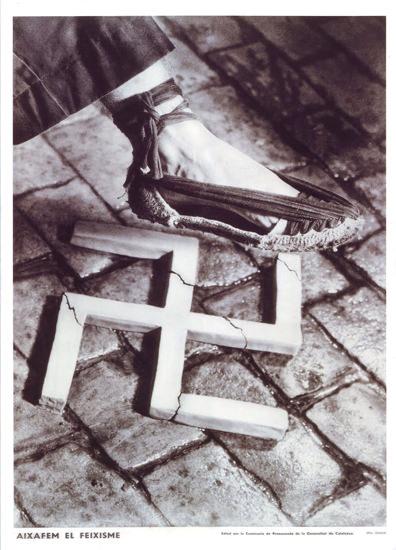 Cartel Guerra Aixafem El Feixisme 1937 | Vintage War Propaganda Posters 1891-1970