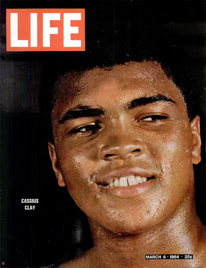 Cassius Clay vs Sonny Liston 6 Mar 1964 Copyright Life Magazine | Life Magazine Color Photo Covers 1937-1970