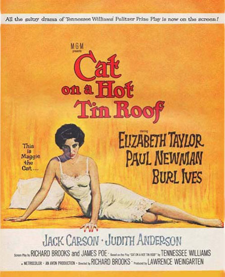 Cat On A Hot Tin Roof Movie Taylor Newman | Sex Appeal Vintage Ads and Covers 1891-1970