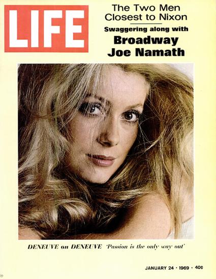 Catherine Deneuve in Belle de Jour 24 Jan 1969 Copyright Life Magazine   Life Magazine Color Photo Covers 1937-1970