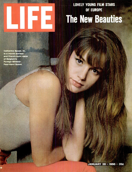Catherine Spaak Kiss the Other Sheik 28 Jan 1966 Copyright Life Magazine   Life Magazine Color Photo Covers 1937-1970