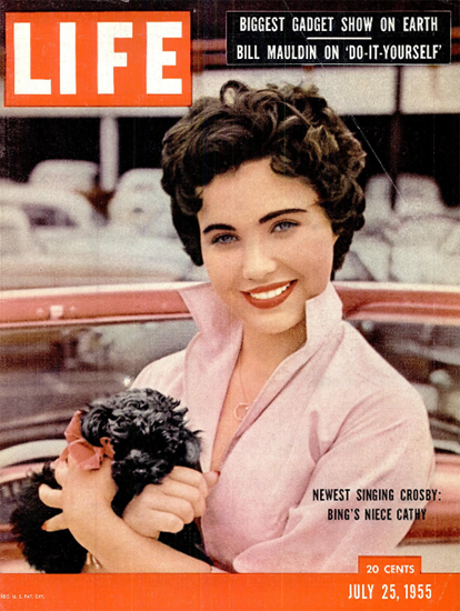 Cathleen Denise Crosby sings 25 Jul 1955 Copyright Life Magazine | Life Magazine Color Photo Covers 1937-1970