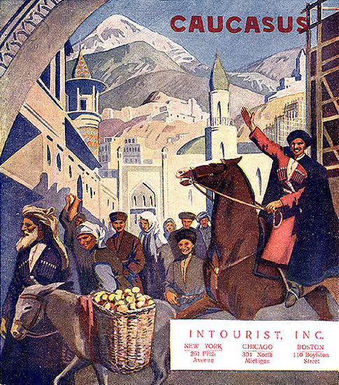 Caucasus Intourist Inc | Vintage Travel Posters 1891-1970