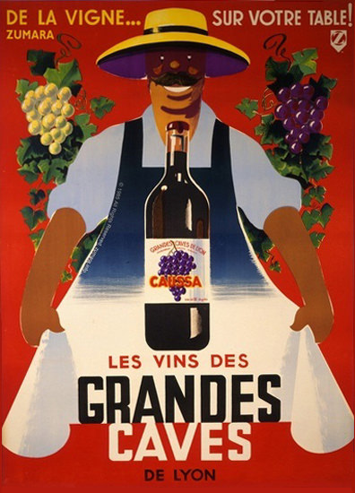 Caussa Les Vins Des Grandes Caves De Lyon 1 | Vintage Ad and Cover Art 1891-1970