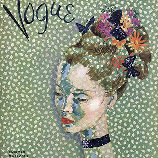 Cecil Beaton Vogue Cover 1935-07-15 Copyright crop | Best of 1930s Ad and Cover Art