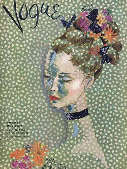 Cecil Beaton Vogue Cover 1935-07-15 Copyright | Vogue Magazine Graphic Art Covers 1902-1958