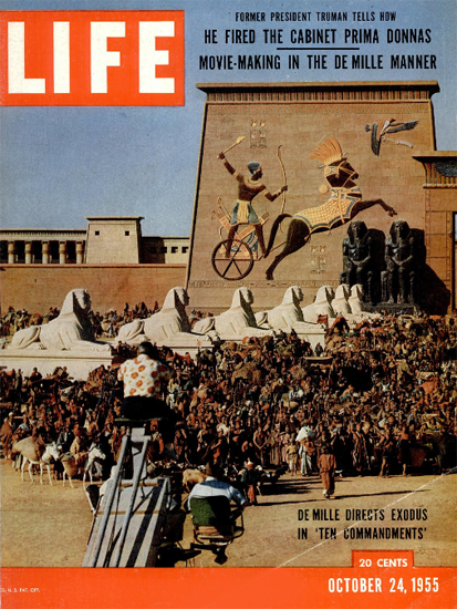 Cecil DeMille Ten Commandments 24 Oct 1955 Copyright Life Magazine | Life Magazine Color Photo Covers 1937-1970