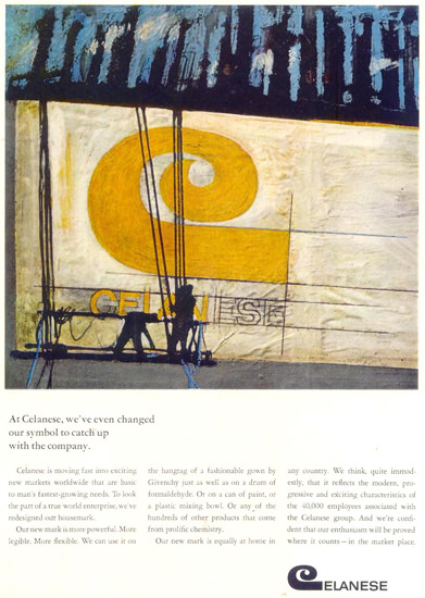 Celanese Changed Symbol 1966 | Vintage Ad and Cover Art 1891-1970