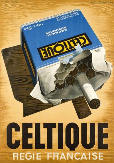 Celtique Cigarettes Regie Francaise 1934 | Vintage Ad and Cover Art 1891-1970