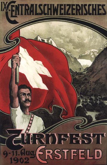 Centralschweizerisches Turnfest 1902 Erstfeld | Vintage Ad and Cover Art 1891-1970