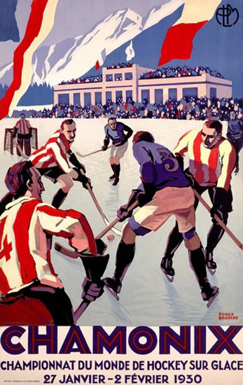 Chamonix Championnat Du Monde Hockey 1930 | Vintage Ad and Cover Art 1891-1970