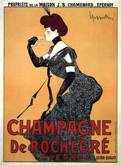 Champagne De Rochegre Epernay France | Sex Appeal Vintage Ads and Covers 1891-1970
