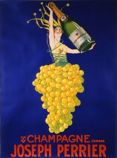 Champagne Grapes Joseph Perrier | Sex Appeal Vintage Ads and Covers 1891-1970