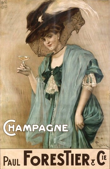 Champagne Paul Forestier | Sex Appeal Vintage Ads and Covers 1891-1970