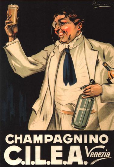 Champagnino CILEA Venezia Italy Italia | Vintage Ad and Cover Art 1891-1970