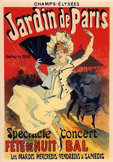 Champs-Elysees Jardin De Paris Fete de Nuit Bal | Sex Appeal Vintage Ads and Covers 1891-1970