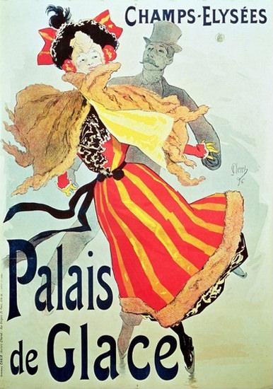 Champs-Elysees Palais de Glace Paris 1893 | Sex Appeal Vintage Ads and Covers 1891-1970