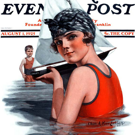 Charles A MacLellan Saturday Evening Post 1925_08_01 Copyright crop | Best of Vintage Cover Art 1900-1970