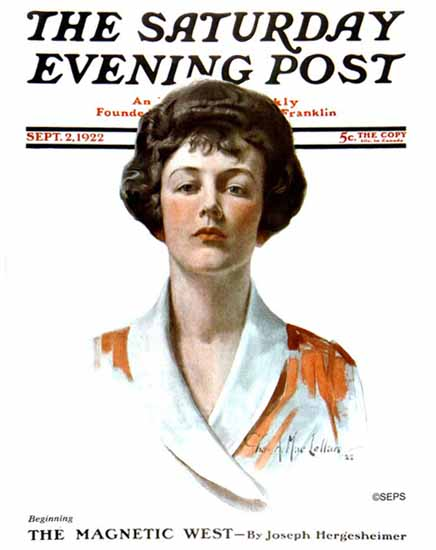 Charles A MacLellan Saturday Evening Post Cover Art 1922_09_02 | The Saturday Evening Post Graphic Art Covers 1892-1930