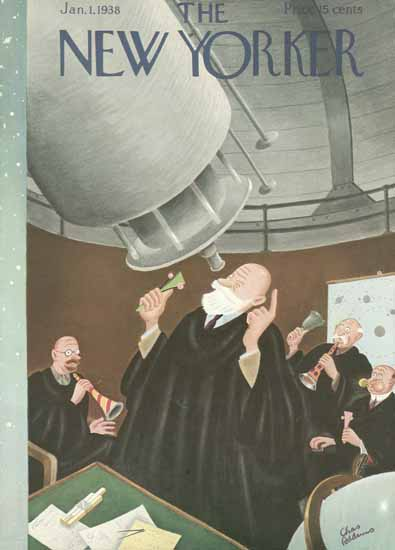 Charles Addams The New Yorker 1938_01_01 Copyright | The New Yorker Graphic Art Covers 1925-1945