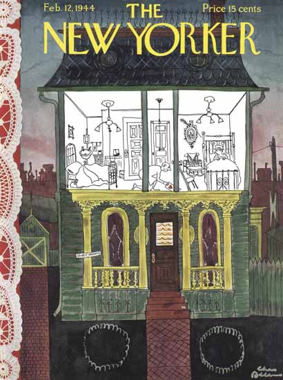 Charles Addams The New Yorker 1944_02_12 Copyright | The New Yorker Graphic Art Covers 1925-1945
