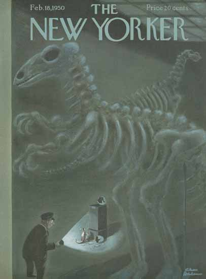 Charles Addams The New Yorker 1950_02_18 Copyright | The New Yorker Graphic Art Covers 1946-1970