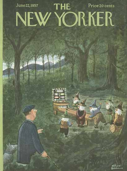 Charles Addams The New Yorker 1957_06_22 Copyright | The New Yorker Graphic Art Covers 1946-1970