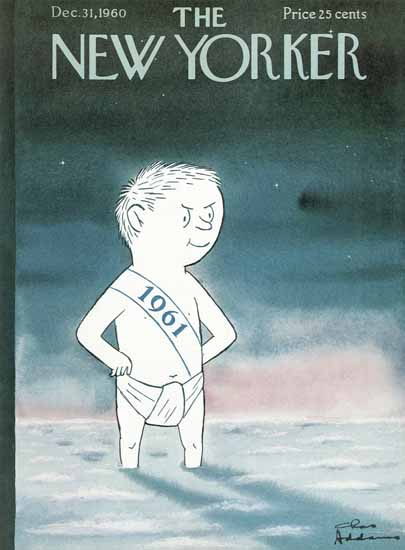 Charles Addams The New Yorker 1960_12_31 Copyright | The New Yorker Graphic Art Covers 1946-1970