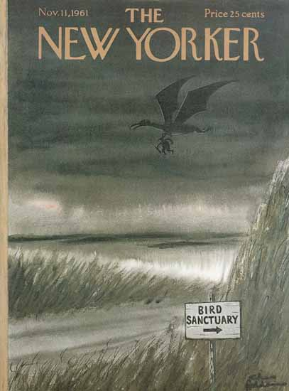 Charles Addams The New Yorker 1961_11_11 Copyright   The New Yorker Graphic Art Covers 1946-1970