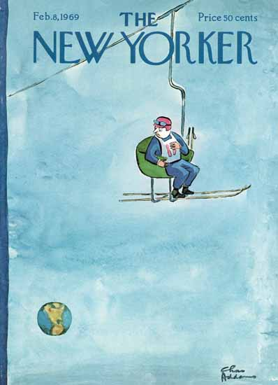 Charles Addams The New Yorker 1969_02_08 Copyright | The New Yorker Graphic Art Covers 1946-1970