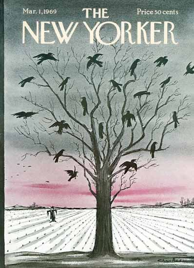 Charles Addams The New Yorker 1969_03_01 Copyright | The New Yorker Graphic Art Covers 1946-1970