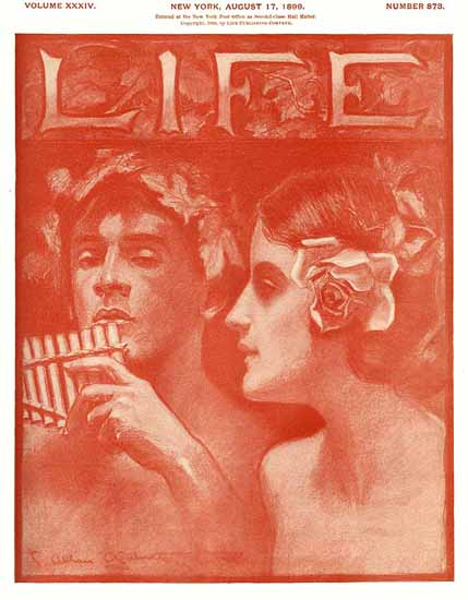 Charles Allan Gilbert Life Magazine 1899-08-17 Copyright Sex Appeal | Sex Appeal Vintage Ads and Covers 1891-1970