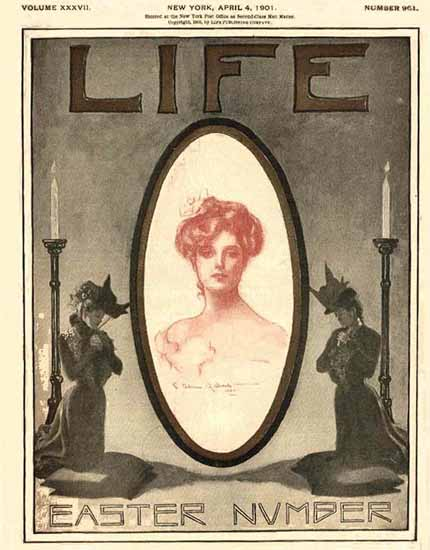 Charles Allan Gilbert Life Magazine 1901-04-04 Copyright Sex Appeal | Sex Appeal Vintage Ads and Covers 1891-1970
