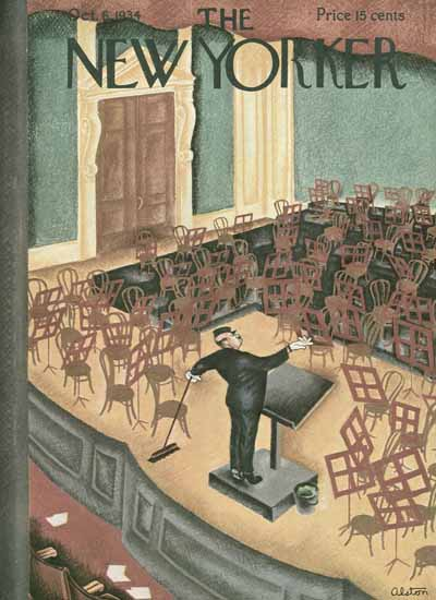 Charles Alston The New Yorker 1934_10_06 Copyright | The New Yorker Graphic Art Covers 1925-1945