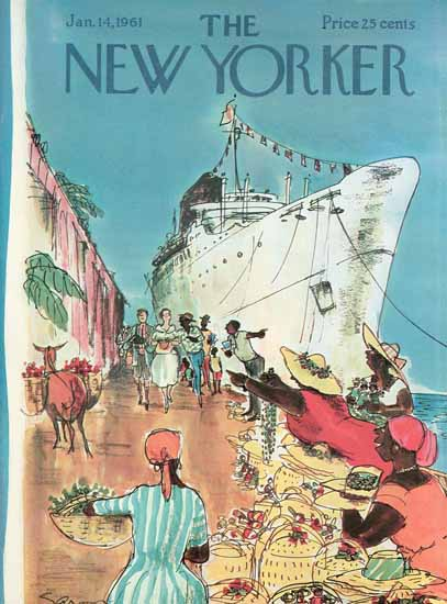 Charles D Saxon The New Yorker 1961_01_14 Copyright | The New Yorker Graphic Art Covers 1946-1970