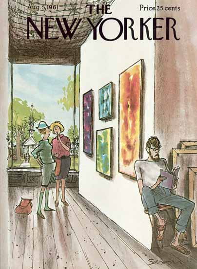 Charles D Saxon The New Yorker 1961_08_05 Copyright   The New Yorker Graphic Art Covers 1946-1970