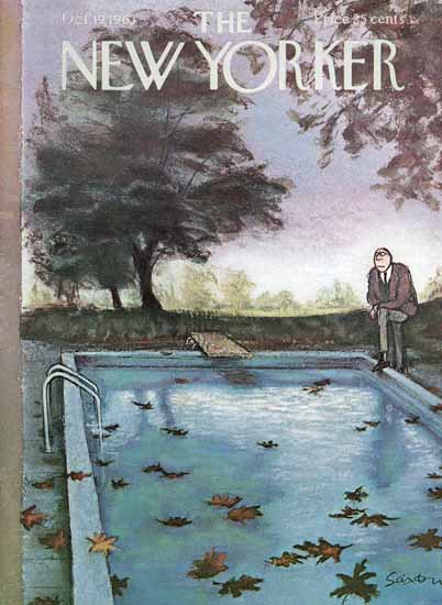 Charles D Saxon The New Yorker 1963_10_19 Copyright | The New Yorker Graphic Art Covers 1946-1970