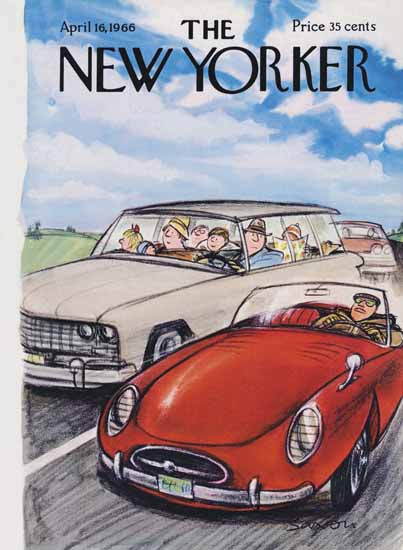 Charles D Saxon The New Yorker 1966_04_16 Copyright | The New Yorker Graphic Art Covers 1946-1970