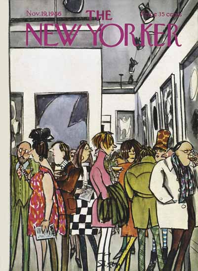 Charles D Saxon The New Yorker 1966_11_19 Copyright | The New Yorker Graphic Art Covers 1946-1970