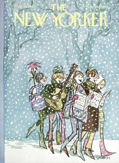 Charles D Saxon The New Yorker 1967_12_16 Copyright   The New Yorker Graphic Art Covers 1946-1970