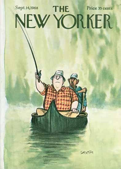 Charles D Saxon The New Yorker 1968_09_14 Copyright   The New Yorker Graphic Art Covers 1946-1970