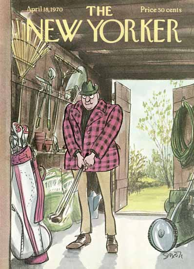 Charles D Saxon The New Yorker 1970_04_18 Copyright | The New Yorker Graphic Art Covers 1946-1970